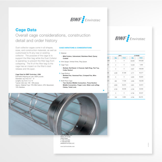 Cage Data Sales Sheet